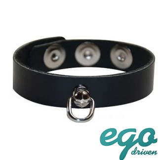 Leather Cock Ring wD-Ring - Anneau Pénien en Cuir - Ego Driven