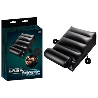 Inflatable Wedge RampCuffs Dark Magic - Coussin de Sexe avec Menottes