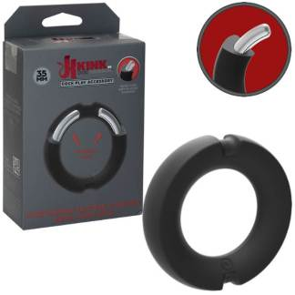 Silicone-Covered Metal Cock Ring - Anneau d'Érection - Kink.com