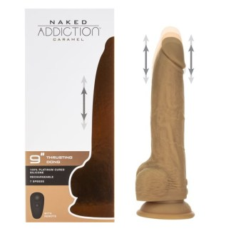 9 Thrusting Dong with Remote Caramel - Gode avec Action de Poussée - Naked Addiction