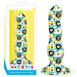 Diamonds and Hearts Silicone Curvy - Collage - Gode en Silicone - Icon Brands