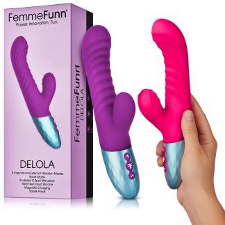 Deloda - Vibrateur Double Stimulation Rechargeable - FemmeFunn