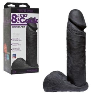 8 inch Cock - UltraSkyn - Code Black - Vac-U-Lock - Doc Jonhson