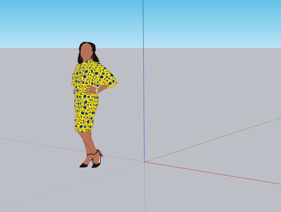 sketchup 2021 - silhouette