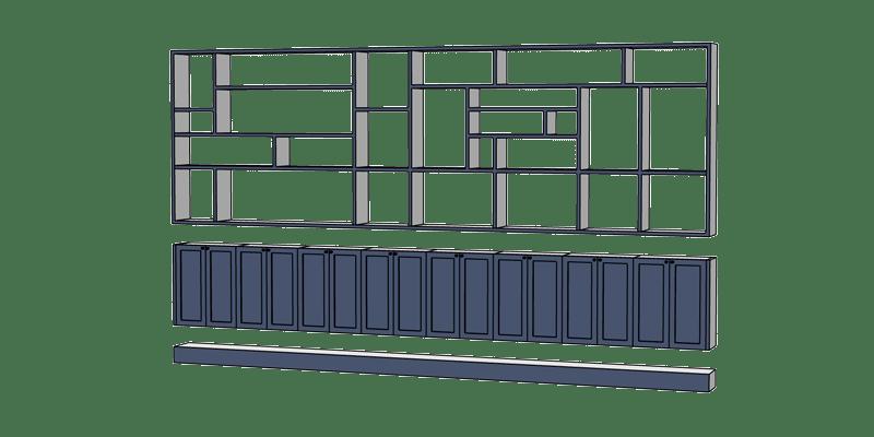 comment dessiner une bibliothèque sur-mesure avec SketchUp ?