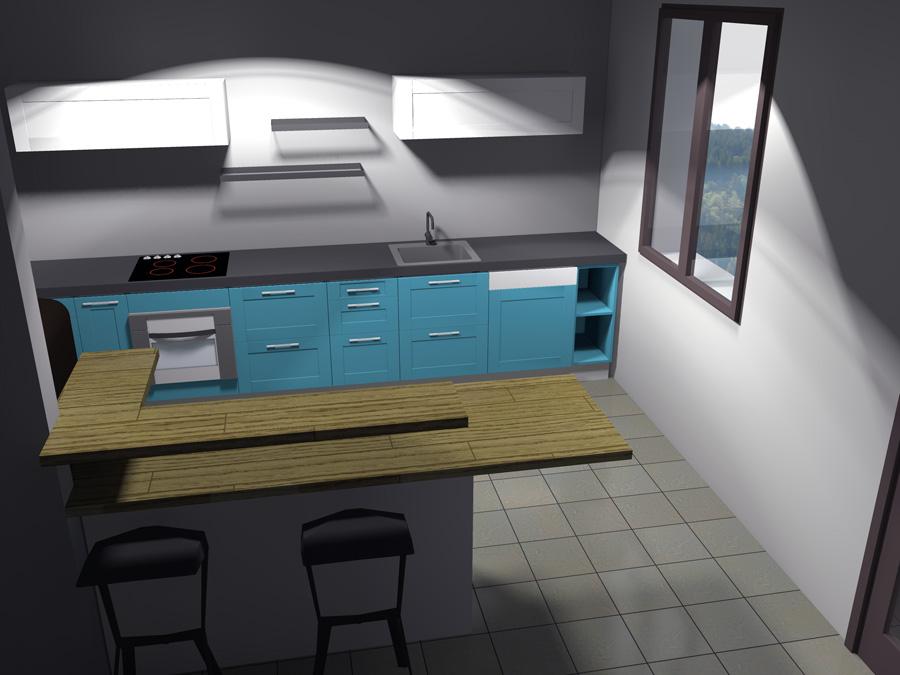 meuble cuisine evier integre