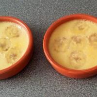 Flans antillais à la banane, lait de coco et rhum
