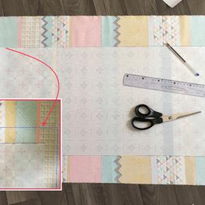 contours toile cirée sur tissu