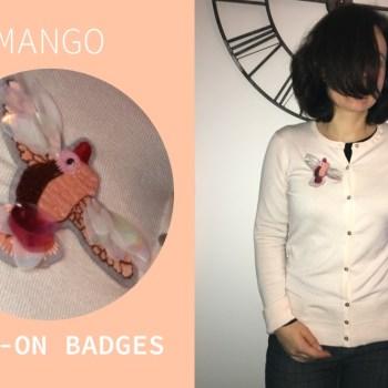 badge sew on mango custo