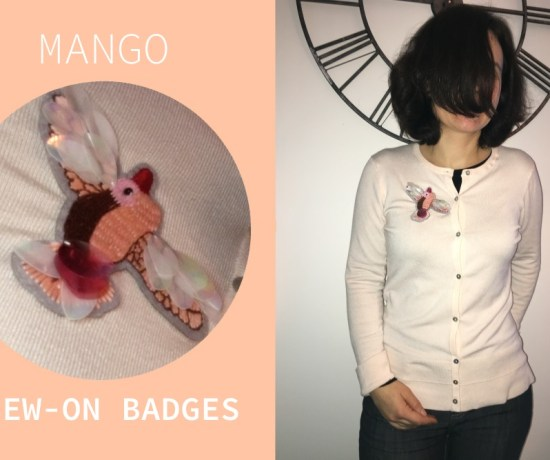 badge sew on mango custo