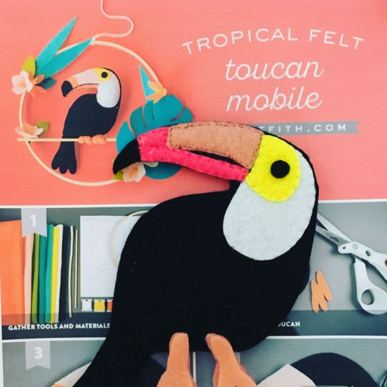 toucan felt tropical mobile lia griffith