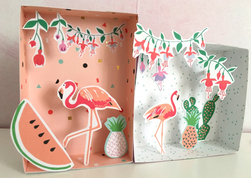 tropical party boxes papercraft