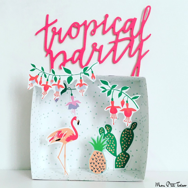 tropical party papercraft