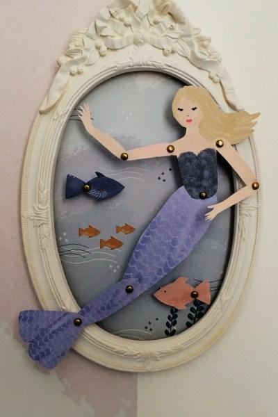 Petite sirène – Déco bord de mer en papercut