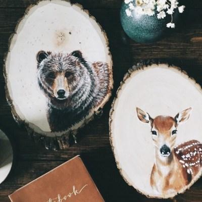 Peintures sur bois ♥