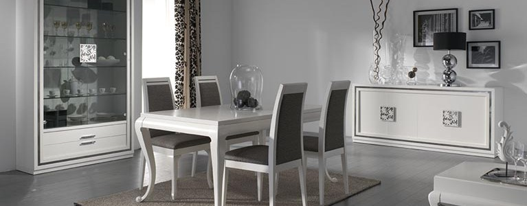 Mesa Comedor colección Nilo-Blanco-767