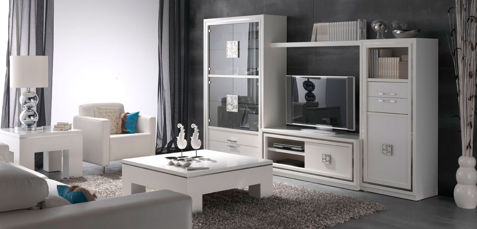 Muebles-para-salon-Nilo-lacado-blanco