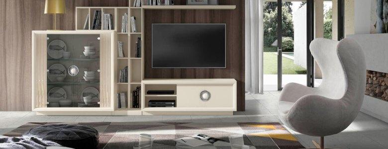 Muebles para salones Anabel Composicion-Lino-BlancoMetal