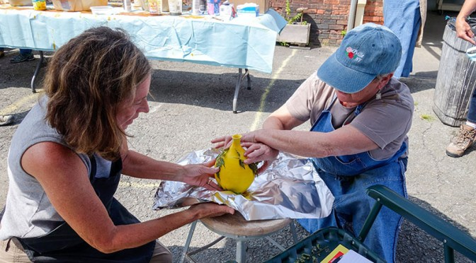 AUGUST 29TH Part 1:  A RAKU WORKSHOP WITH CHARLIE AND LINDA RIGGS