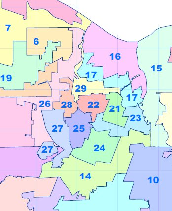 Rochester Ny Zip Code Map : rochester, Districts, Monroe, County,