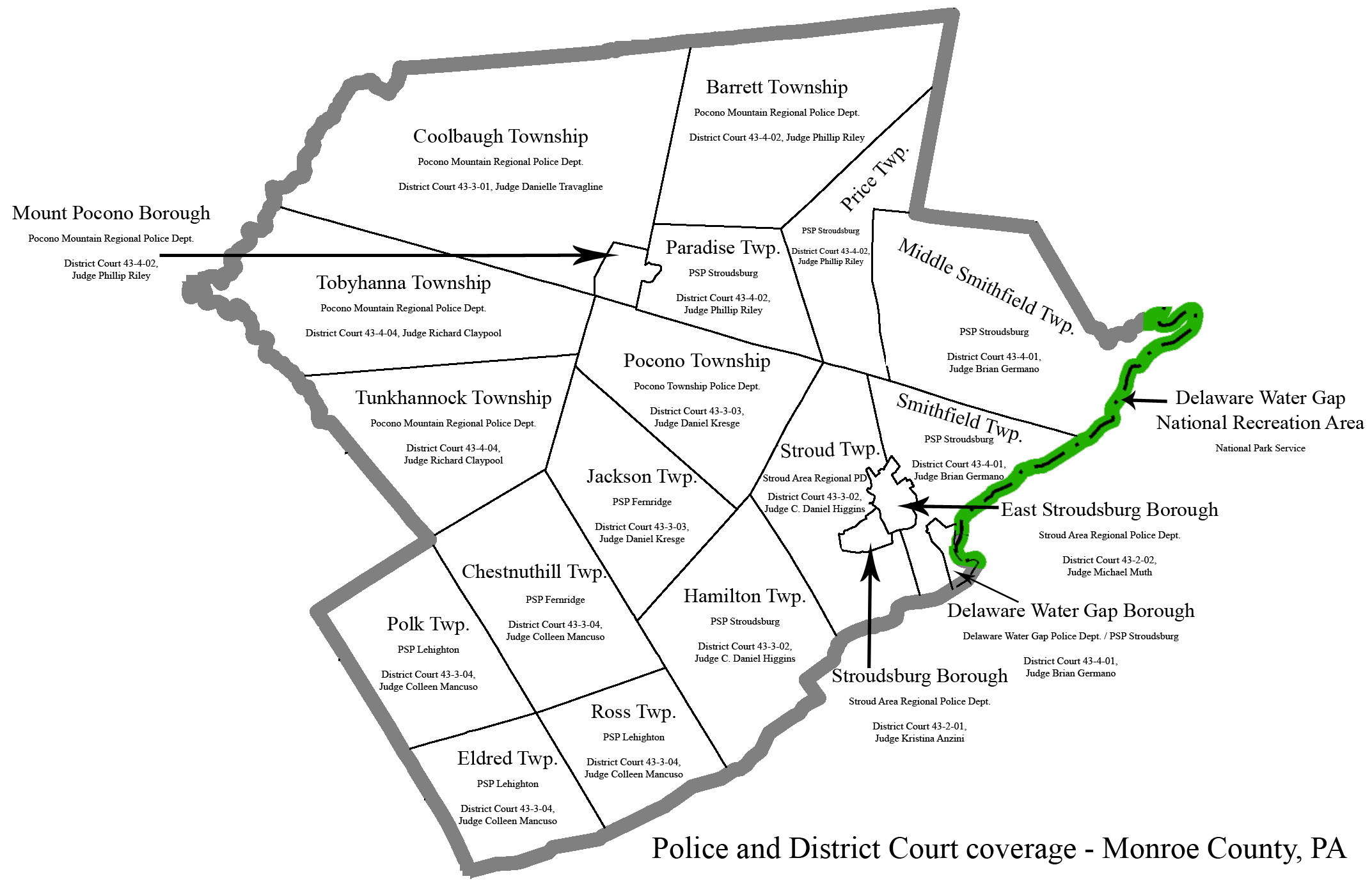 Police And District Court Jurisdictions In Monroe County Monroe County Office Of The District