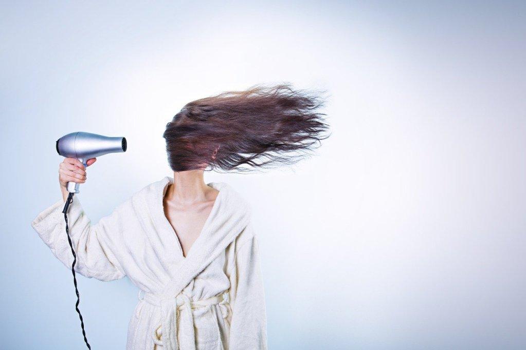 woman, hair drying, girl