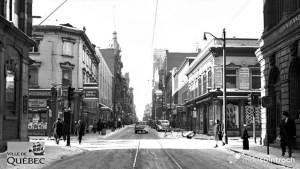 Saint-Roch dans les années 1900 : la rue Saint-Joseph et son tramway en 1907