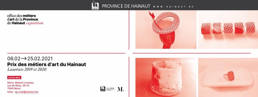 Expo Prix des Métiers d'art du Hainaut à la Maison Losseau Mons du 6 au 28 mars 2021