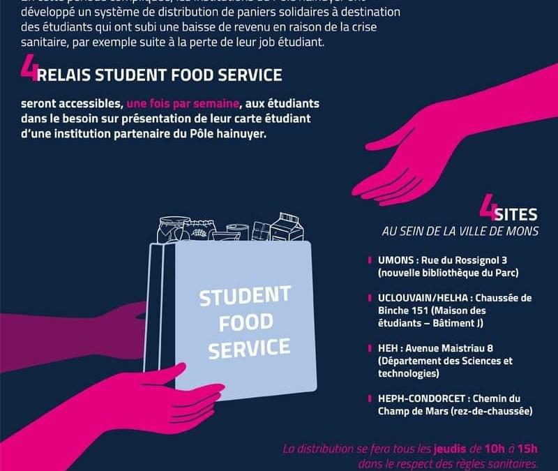 Distribution de paniers solidaires aux étudiants