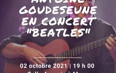 Concert d'Antoine Goudeseune à Arsonic samedi 2 octobre 2021 19h