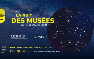 La nuit des musées à Mons vendredi 22 octobre 2021