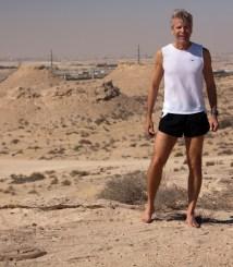Images of Running Men Barefoot