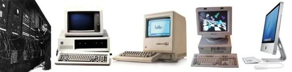 L'évolution des ordinateur et leur capacité de stockage