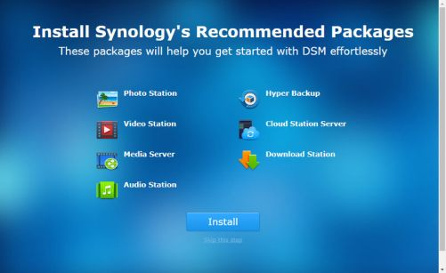 Synology DS418j Packages recommandés