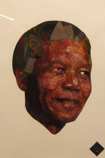 Nelson Mandela par Shaz Arts © La galerie Pari(s) Urbain