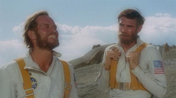 Taylor (Charlton Heston) et Landon (Robert Gunner)