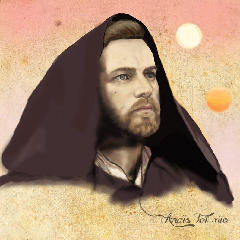 Obi Wan Kenobi on Tatooine par ©Anaïs Taï Mïo