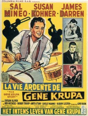 "Affiche « La Vie Ardente de Gene Krupa """