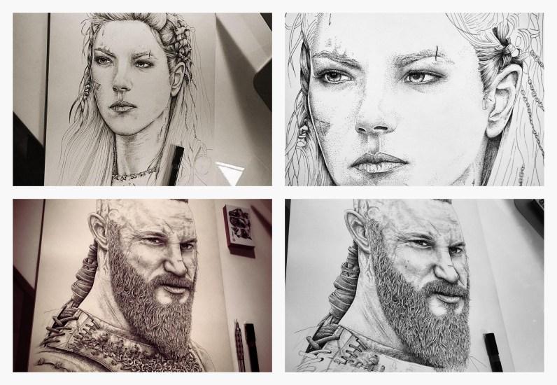 "La serie "" Viking"" par © Art Of Supershinobi"
