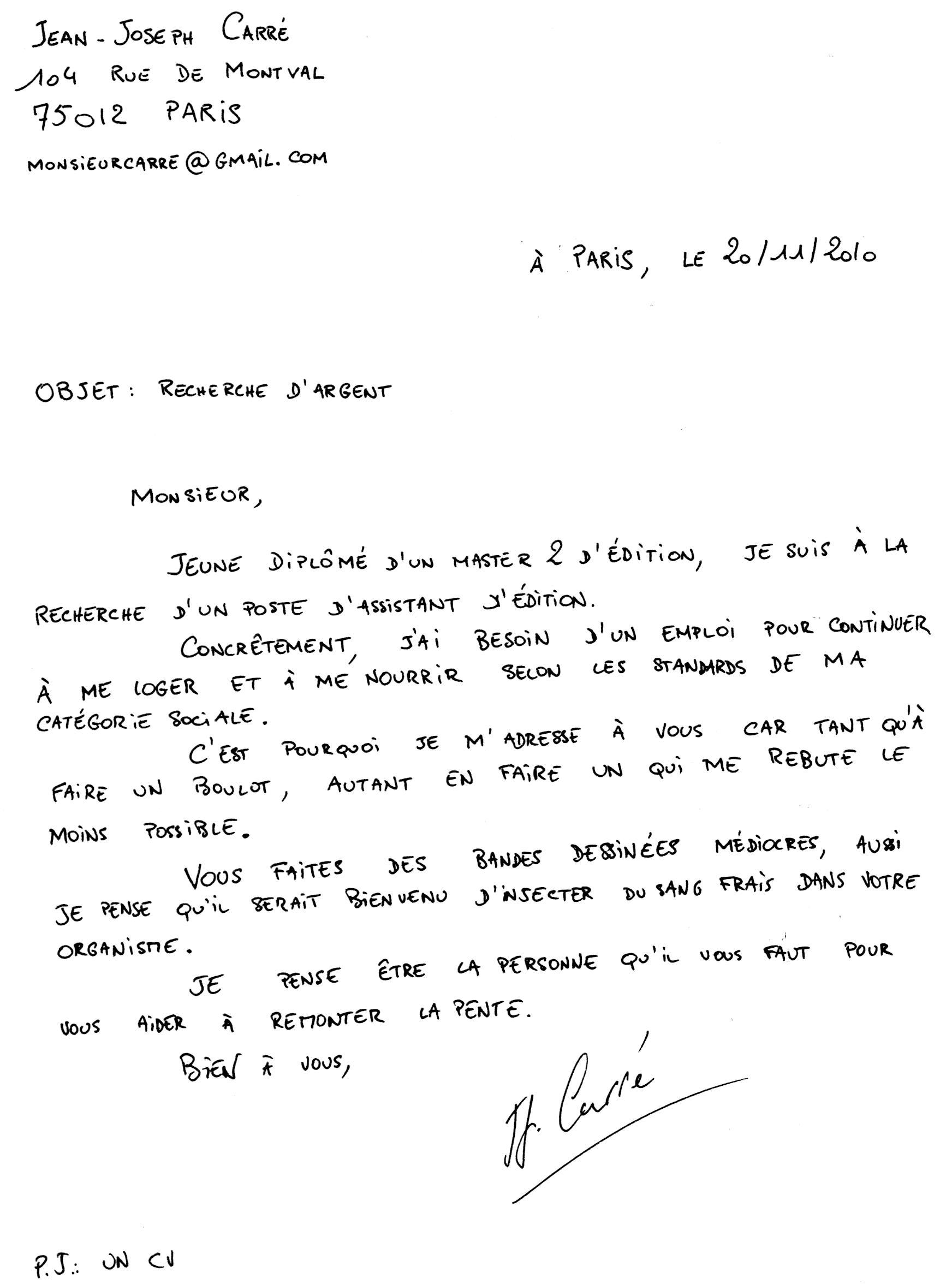 exemple lettre de motivation ecrite a la main exemple de lettre