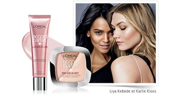 Test beauté 100 Enlumineurs Highlight Accord Parfait l'Oréal Paris à tester