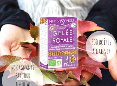 600 Boîtes de Gelée Royale de Nutrisensis à Gagner !