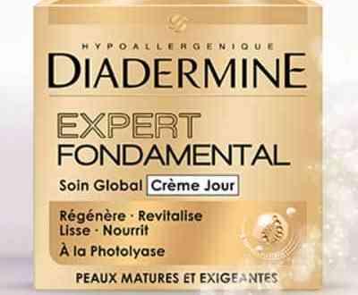 Recevez votre échantillon gratuit du soin Expert Fondamental de Diadermine