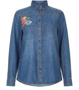 chemise-en-jean-bleu-a-manches-longues-avec-fleurs-brodees