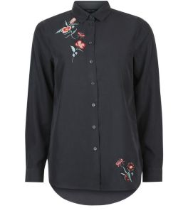 chemise-longueur-xl-gris-fonce-a-broderie-florale