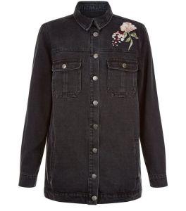 veste-chemise-noire-avec-broderies-florales