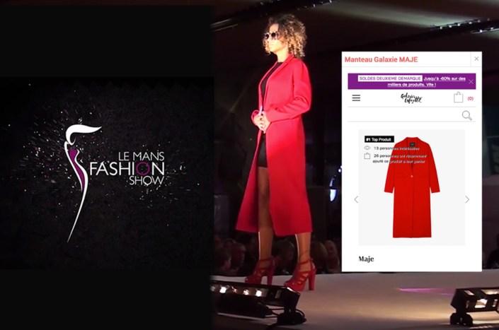 Défilé interactif Galeries Lafayette à Le Mans Fashion Show