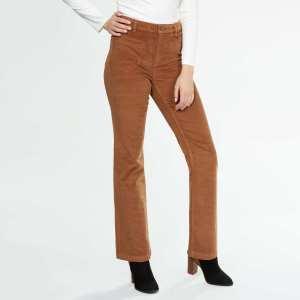 pantalon-flare-en-velours-finement-cotele--camel-femme-vc078_1_zc1