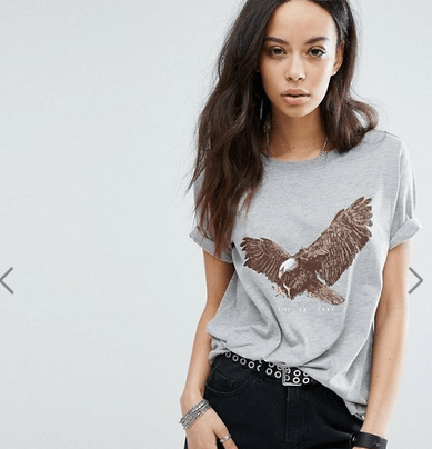 T-shirt imprimé aigle Noisy May sur Asos