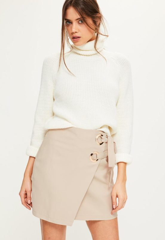jupe-portefeuille-beige--double-anneau-collection-petite